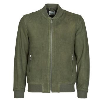 Vêtements Homme Vestes en cuir / synthétiques Selected SLHB01 Kaki
