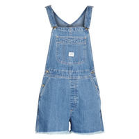 Vêtements Femme Shorts / Bermudas Lee BIB SHORT Blue washed
