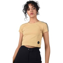 Vêtements Femme T-shirts manches courtes Project X Paris Crop-Top Beige