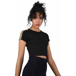 Vêtements Femme T-shirts manches courtes Project X Paris Crop-Top Noir