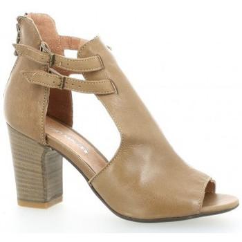 Chaussures Femme Sandales et Nu-pieds Nuova Riviera Nu pieds cuir Camel