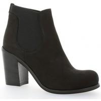 Chaussures Femme Bottines Nuova Riviera Boots cuir nubuck Noir