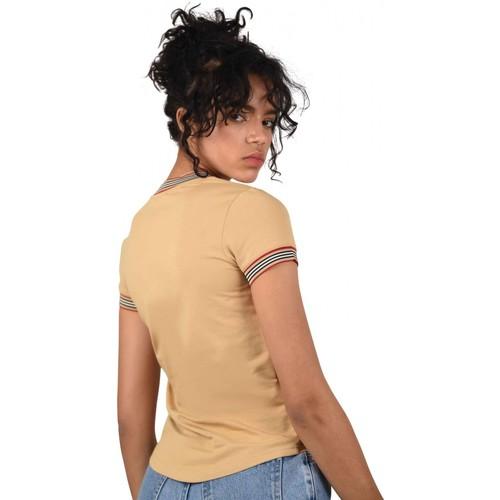 Tee Shirt  Project X Paris  t-shirts manches courtes  femme  beige