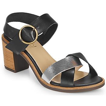 Chaussures Femme Sandales et Nu-pieds Casual Attitude MILLA Noir / Argent
