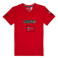 Vêtements Garçon T-shirts manches courtes Geographical Norway JIRI Rouge