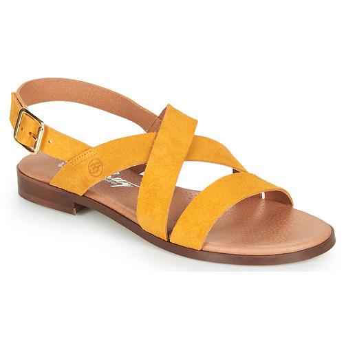 Chaussures Femme Sandales et Nu-pieds Betty London MADISSON Jaune
