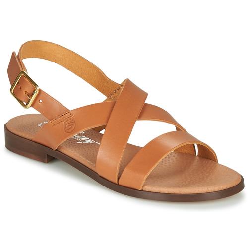 Chaussures Femme Sandales et Nu-pieds Betty London MADI Cognac