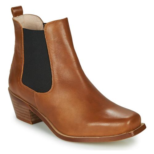 Chaussures Femme Bottines Betty London MERKATO Cognac
