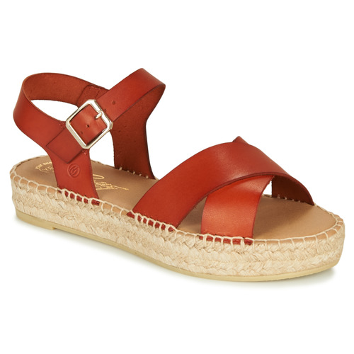 Chaussures Femme Sandales et Nu-pieds Betty London MIZOU Marron