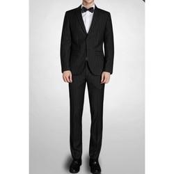 Vêtements Homme Costumes  Kebello Costume à rayures H Noir Noir