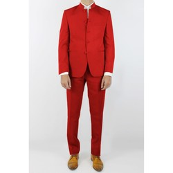 Vêtements Homme Costumes  Kebello Costume col mao H Rouge Rouge