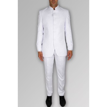 Vêtements Homme Costumes  Kebello Costume col mao H Blanc Blanc