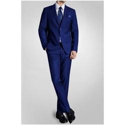 Vêtements Homme Costumes  Kebello Costume 2 boutons droit H Bleu Bleu