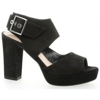 Chaussures Femme Sandales et Nu-pieds Fremilu Nu pieds cuir nubuck Noir