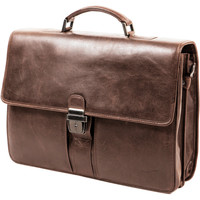 Sacs Homme Porte-Documents / Serviettes Gerard Henon Cartable Outland en Cuir de Vachette GH 8326 Marron clair