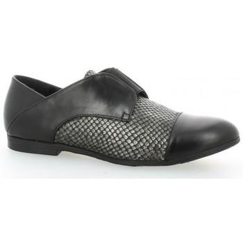 Chaussures Femme Derbies Pao Derby cuir python Noir