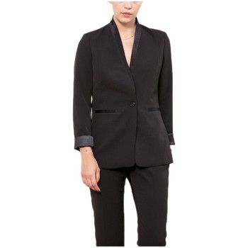 Vêtements Femme Vestes / Blazers Le Temps des Cerises Veste Femme Torera Noir 38