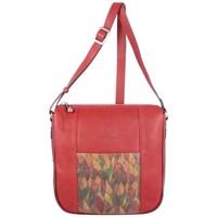 Sacs Femme Sacs Bandoulière Patrick Blanc Sac bandoulière  Nouméa cuir motif rouge rouge