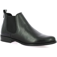 Chaussures Femme Bottines So Send Boots cuir python Noir