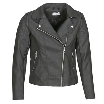 Vêtements Femme Vestes en cuir / synthétiques Only ONLMELANIE BIKER Noir