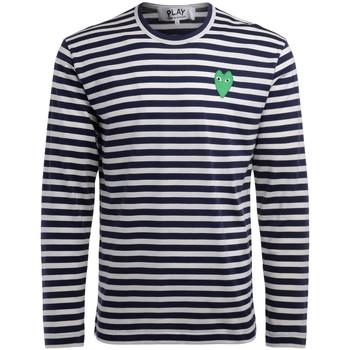Vêtements Homme T-shirts manches longues Comme Des Garcons T-Shirt  manica lunga a righe bianche Multicolor