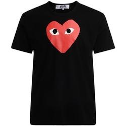 Vêtements Homme T-shirts manches courtes Comme Des Garcons T-Shirt homme  noir avec un cœur Noir