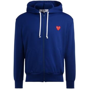 Vêtements Homme Sweats Comme Des Garcons Sweatshirt  bleu avec un coeur rouge Bleu