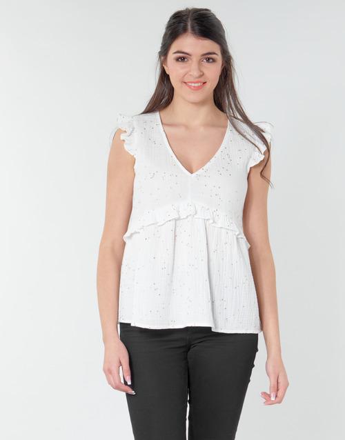 Vêtements Femme Tops / Blouses Betty London MOUDINE Blanc / Or