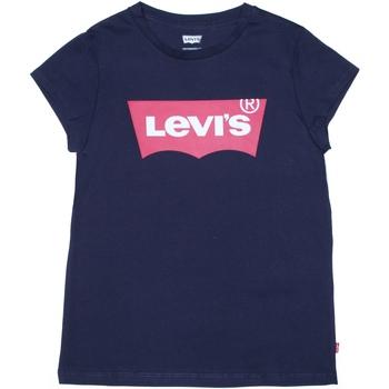 Vêtements Fille T-shirts manches courtes Levi's Tee shirt fille logotypé Bleu