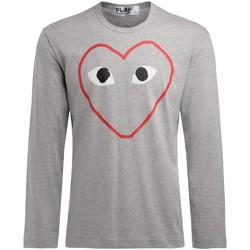 Vêtements Homme T-shirts manches longues Comme Des Garcons T-Shirt homme  gris à manches longues Gris