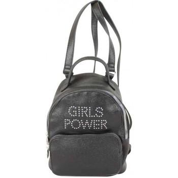Sacs Femme Sacs à dos Girls Power Petit sac à dos  Star clou effet pailleté Noir Multicolor