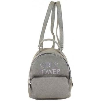 Sacs Femme Sacs à dos Girls Power Petit sac à dos  Star clou effet pailleté Gris Multicolor
