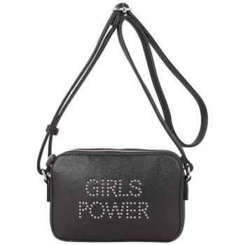 Sacs Femme Sacs Bandoulière Girls Power Petit sac  Star clouté et effet pailleté Noir Multicolor