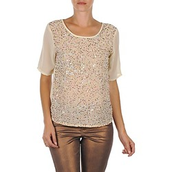 Vêtements Femme T-shirts manches courtes Vero Moda IXUS Beige