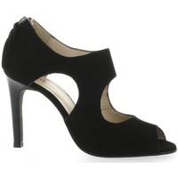 Chaussures Femme Sandales et Nu-pieds Vidi Studio Boots cuir velours Noir