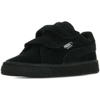 Chaussures Enfant Baskets basses Puma Suede 2 Straps Inf noir