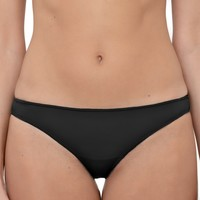 Sous-vêtements Femme Strings Lormar String microfibre et bords repliés  Jenna Brasiliana Noir Noir