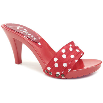 Chaussures Femme Mules Kiara Shoes K6601 Pois Rouge