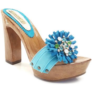Chaussures Femme Mules Gioie Italiane G12078 Turquoise