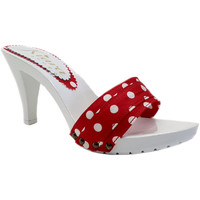 Chaussures Femme Mules Kiara Shoes K6401 Pois Rouge