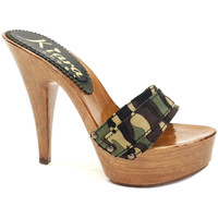 Chaussures Femme Mules Kiara Shoes K9101 Camouflage
