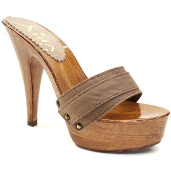 Chaussures Femme Mules Kiara Shoes K9101 Taupe