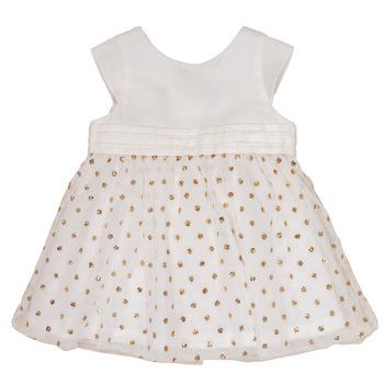 Vêtements Fille Robes courtes Petit Bateau FAVORITE Blanc / Jaune
