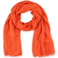 Accessoires textile Femme Echarpes / Etoles / Foulards Allée Du Foulard Chèche Touch Orange