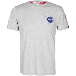 Vêtements T-shirts manches courtes Alpha NASA Space Shuttle Tee gris