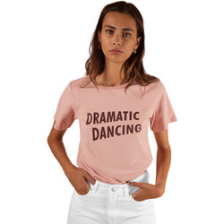 Vêtements Femme T-shirts manches courtes Frnch T-shirt col rond à inscription CONSTANCE Rose