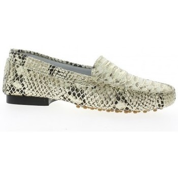 Chaussures Femme Mocassins Reqins Mocassins cuir python  dé Doré