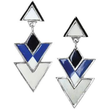 Montres & Bijoux Femme Boucles d'oreilles Franck Herval Boucles d'oreilles  collection 'Kilim' 12-61868 Bleu