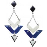 Montres & Bijoux Femme Boucles d'oreilles Franck Herval Boucles d'oreilles  collection 'Kilim' 12-61872 Bleu