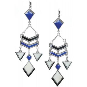 Montres & Bijoux Femme Boucles d'oreilles Franck Herval Boucles d'oreilles  collection 'Kilim' 12-61866 Bleu